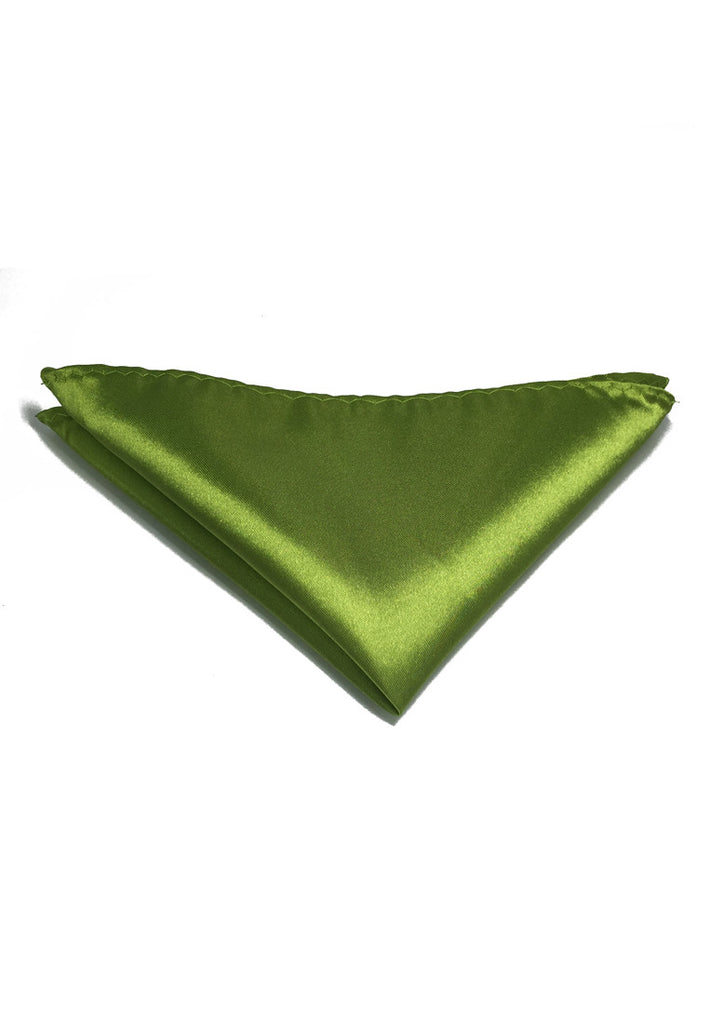 Lustrous Series Olive Green Polyester Pocket Square