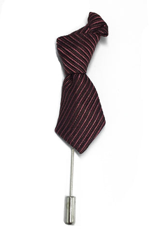 Pink & Purple Stripes Little Tie Lapel Pin