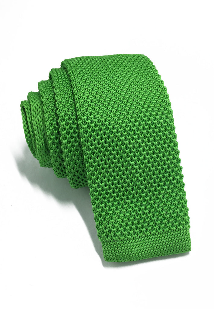Interlace Series Apple Green Knitted Tie