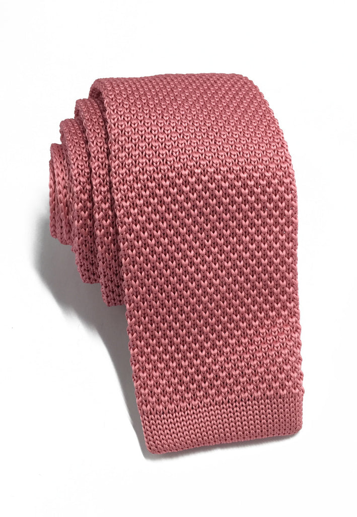 Interlace Series Rose Pink Knitted Tie