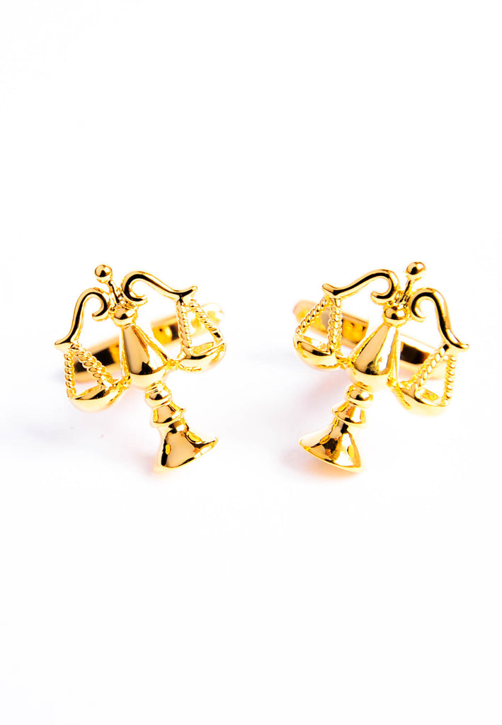 Golden Scales of Justice Shaped Cufflinks