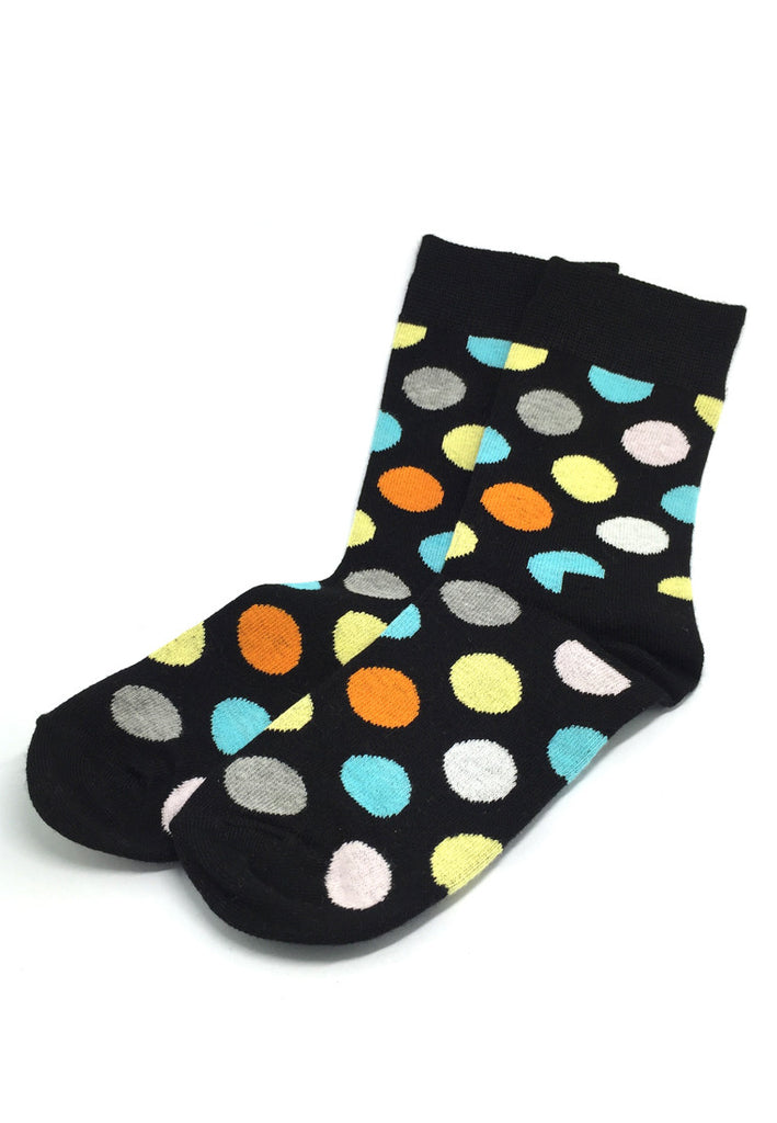 Speckle Series Multi Colour Polka Dots Navy Blue Socks