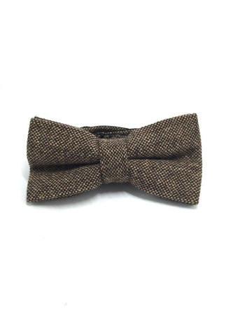 Dolly Series Golden Brown Wool Pre-tied Bow Tie