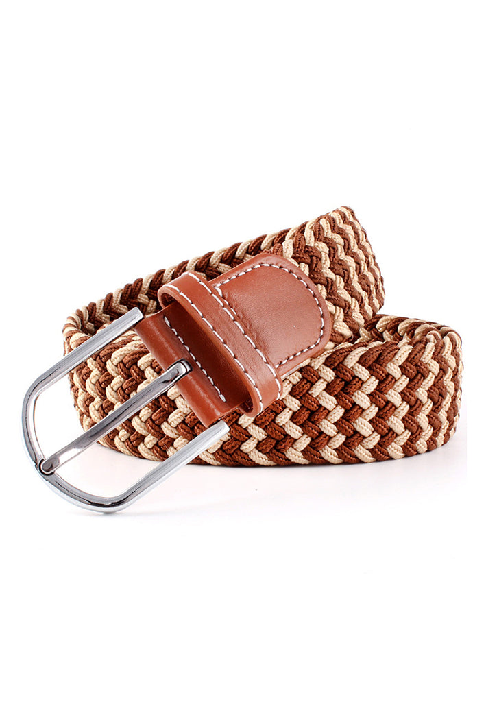 Entwine Series Brown & Light Brown Braided Belts