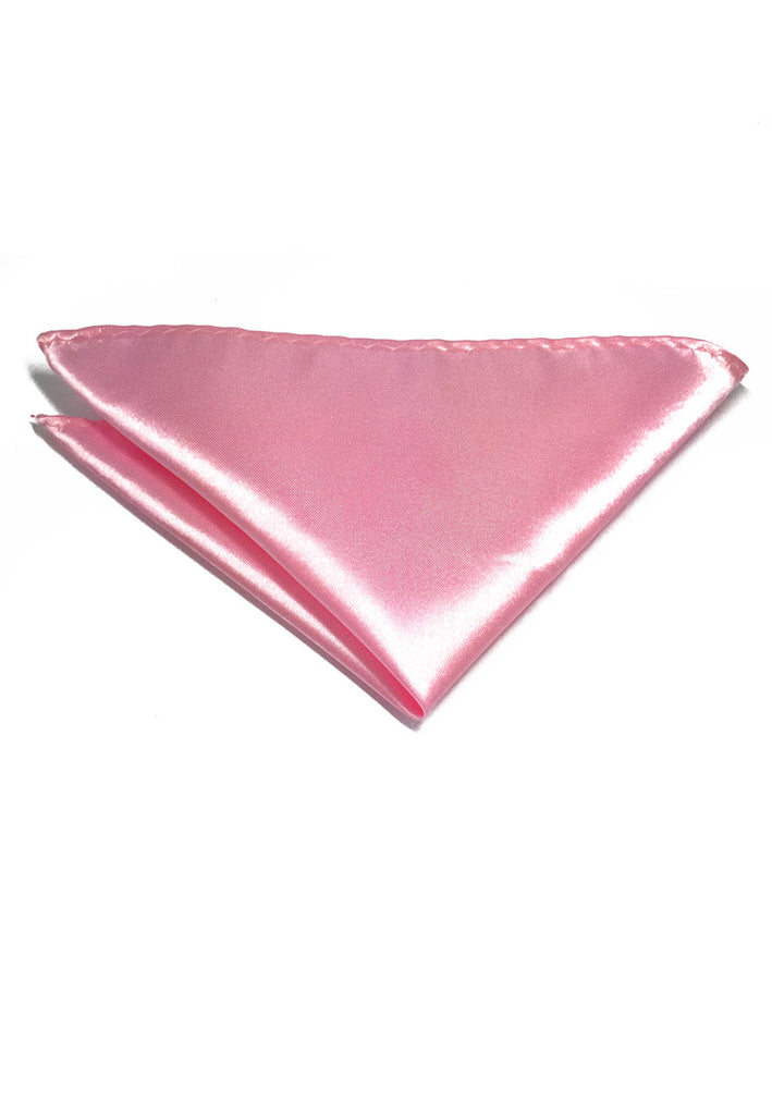 Lustrous Series Baby Pink Polyester Pocket Square