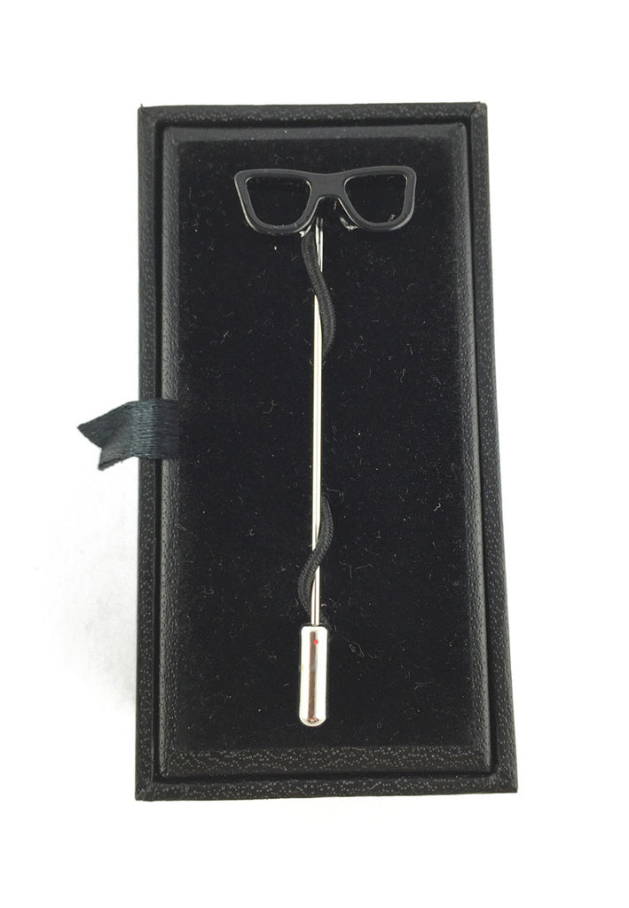 Black Glasses Lapel Pin