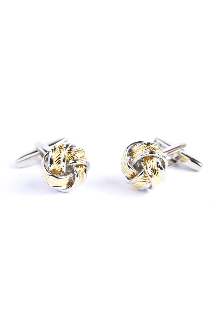 Two Tone Knot Style Cufflinks