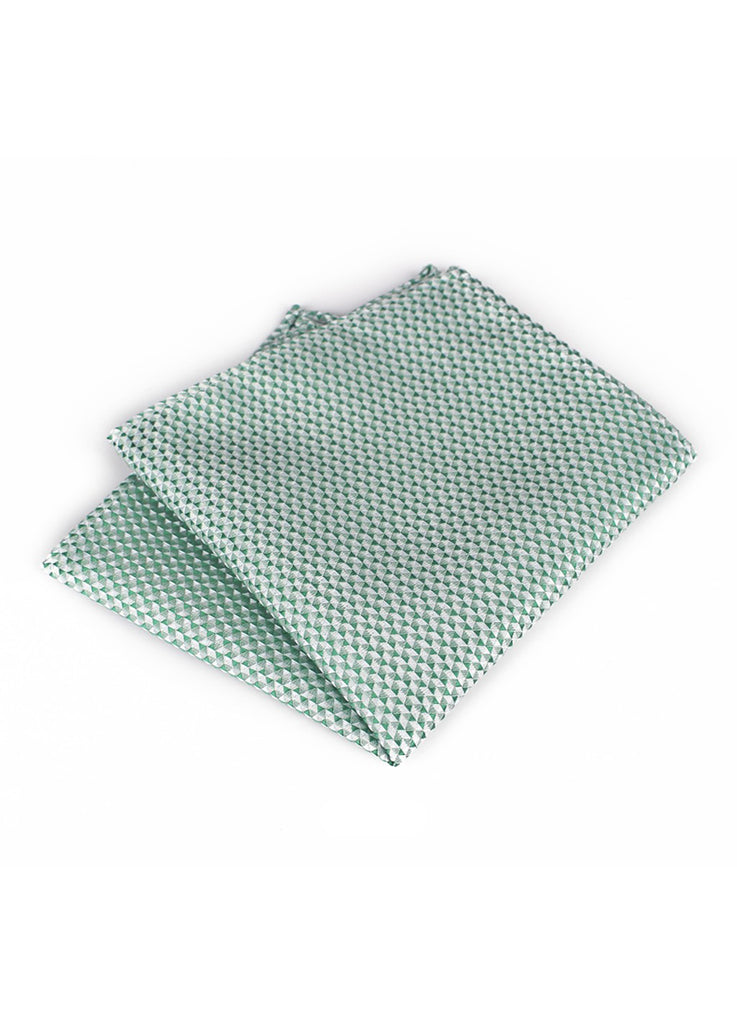Tri Series Electric Green Pocket Square