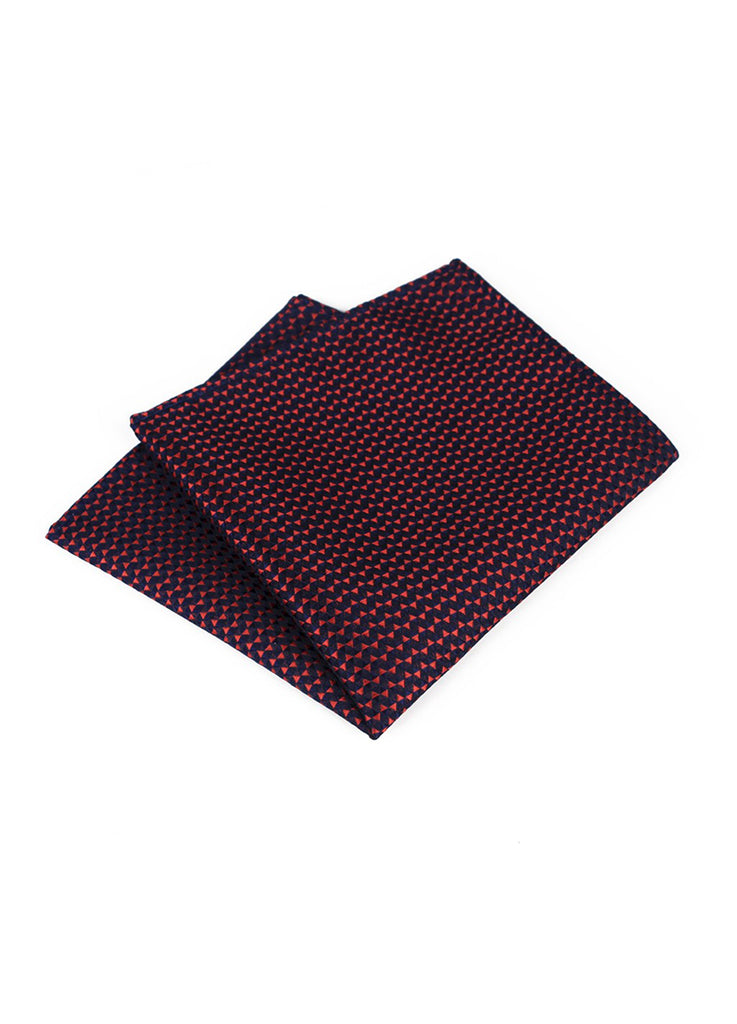 Tri Series Red and Black Pocket Square