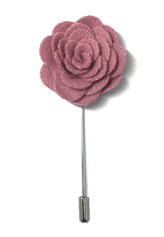 Pink Classic Camellia Fabric Flower Lapel Pin