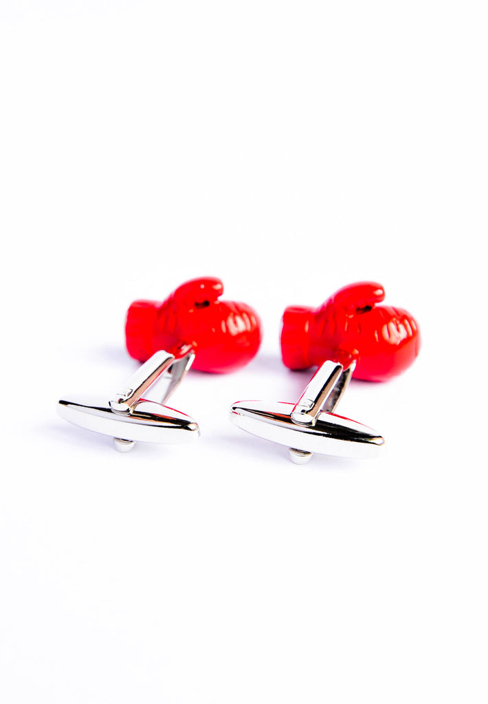 Red Boxing Gloves Cufflinks