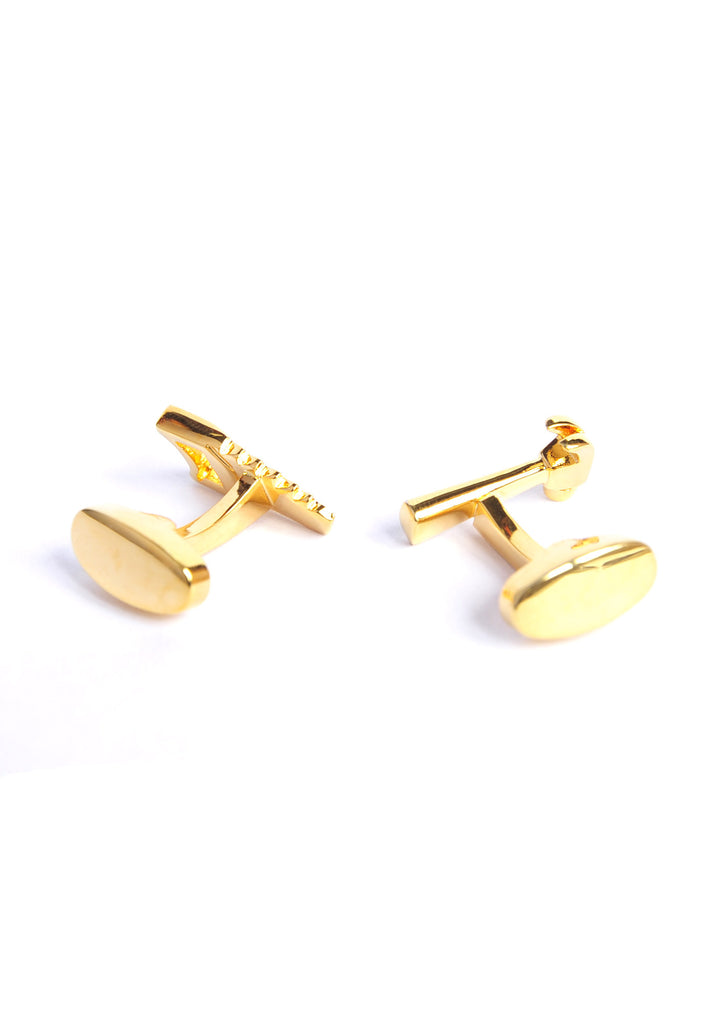 Gold Plated Handyman Hammer & Saw Cufflinks