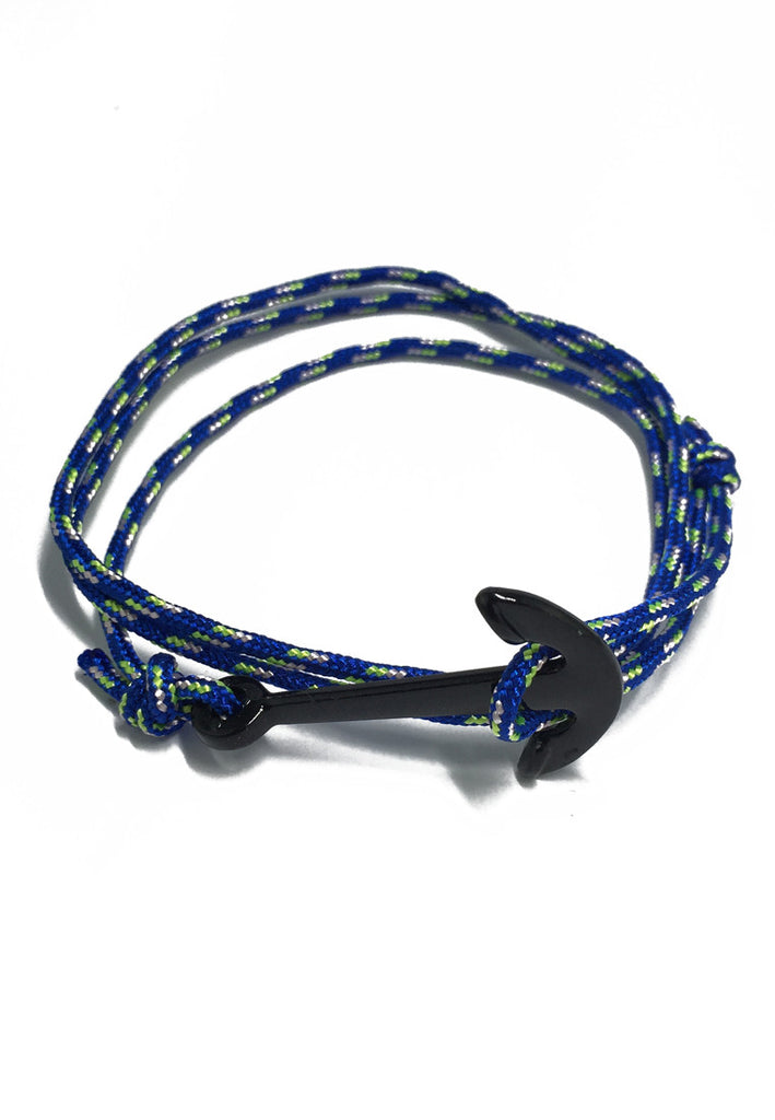Ballast Series Blue Nylon Anchor Bracelet
