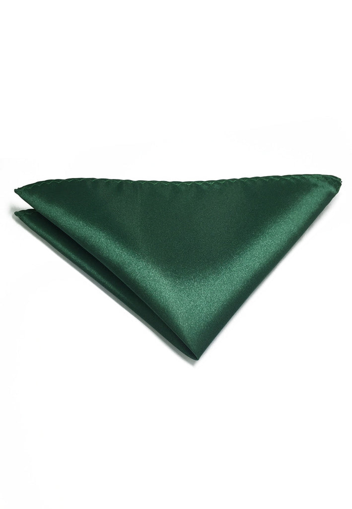 Lustrous Series Dark Green Polyester Pocket Square