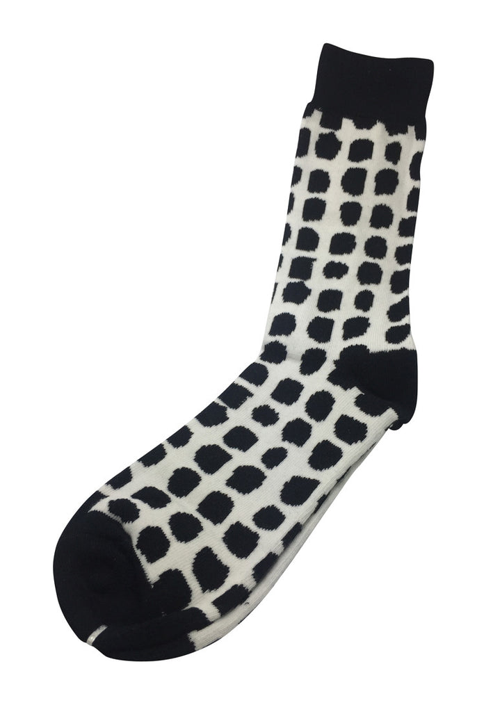 Splashy Series Black Spots White Socks