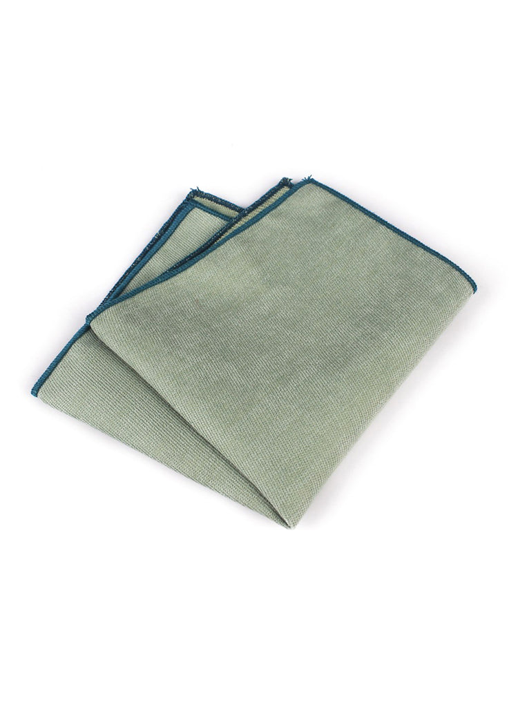 Suede Series Pale Green Pocket Square