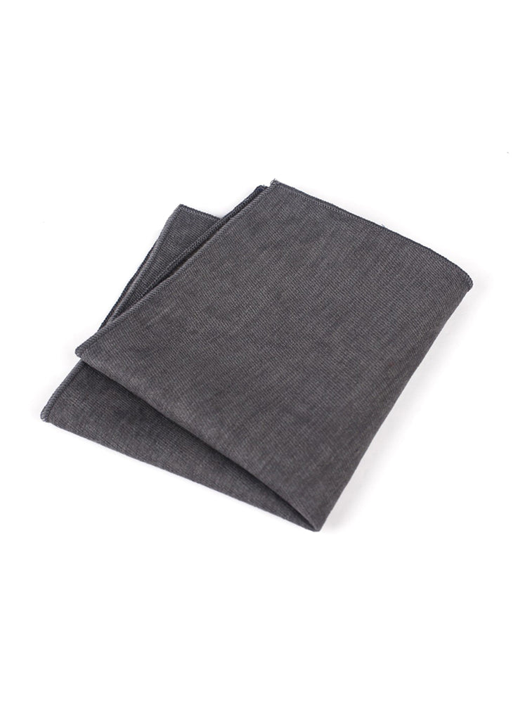 Suede Series Dark Grey Pocket Square