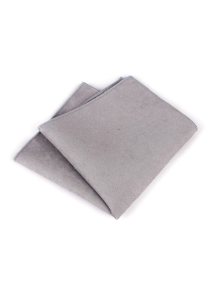 Suede Series Light Grey Pocket Square