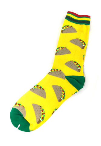 Gourmet Series Tacos Prints Design Socks