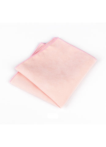 Suede Series Light Pink Pocket Square