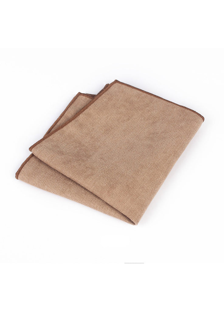 Suede Series Brown Pocket Square