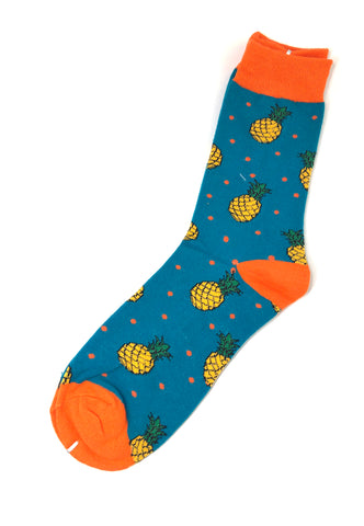 Gourmet Series Pineapple Prints Design Socks