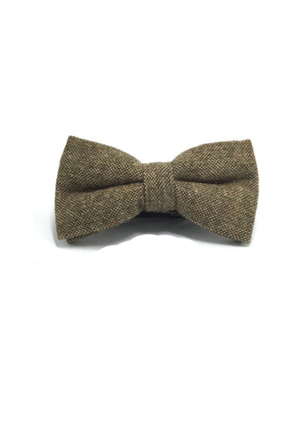 Dolly Series Copper Brown Wool Pre-tied Bow Tie