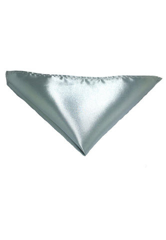 Lustrous Series Silver Polyester Pocket Square
