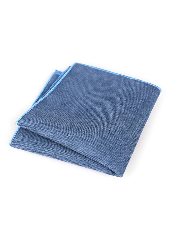 Suede Series Indigo Blue Pocket Square