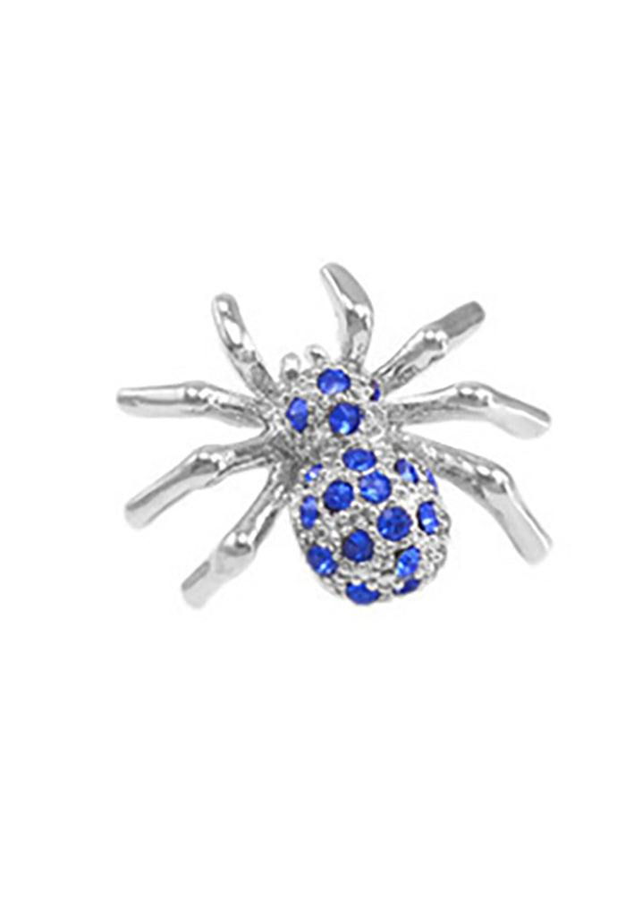 Diamond Spider Lapel Pin