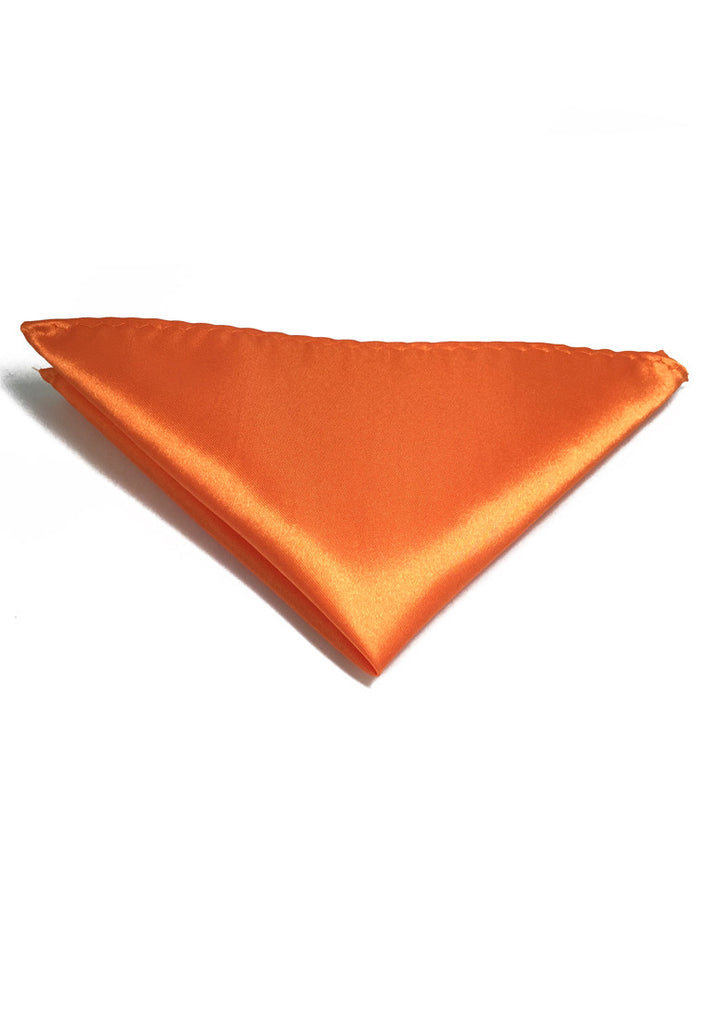 Lustrous Series Orange Polyester Pocket Square