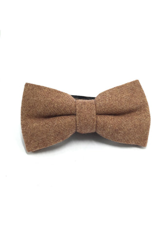Dolly Series Rust Brown Wool Pre-tied Bow Tie