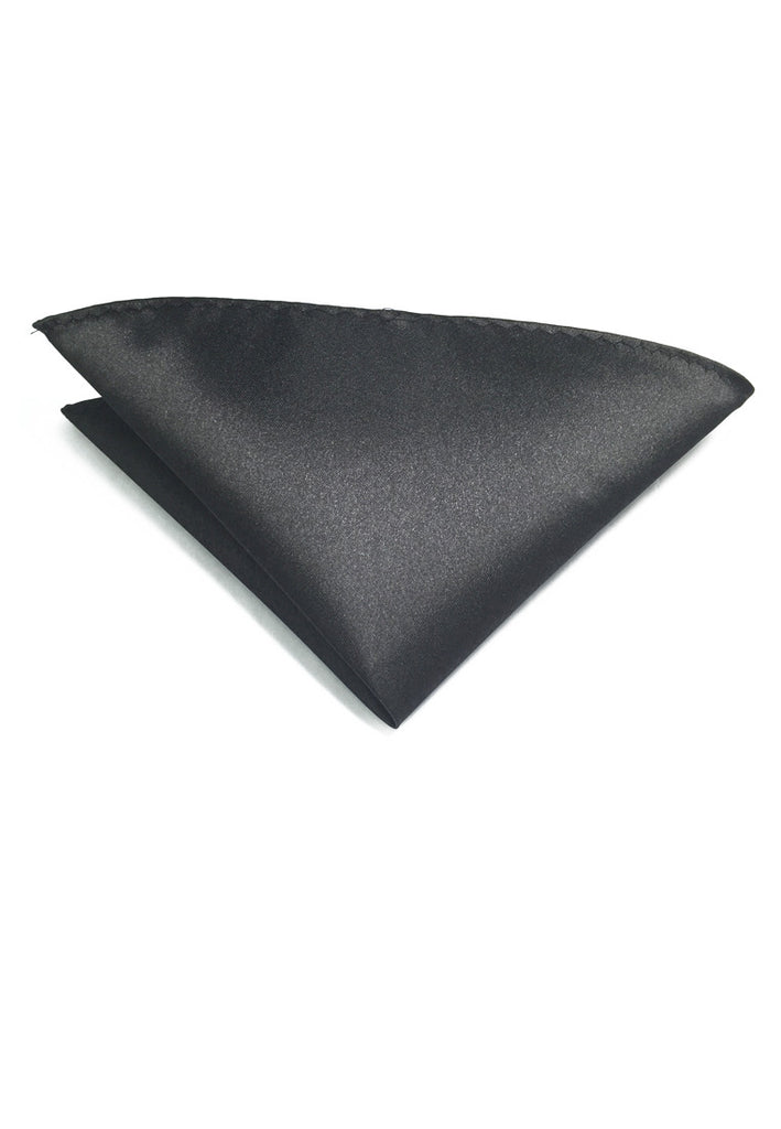 Lustrous Series Black Polyester Pocket Square