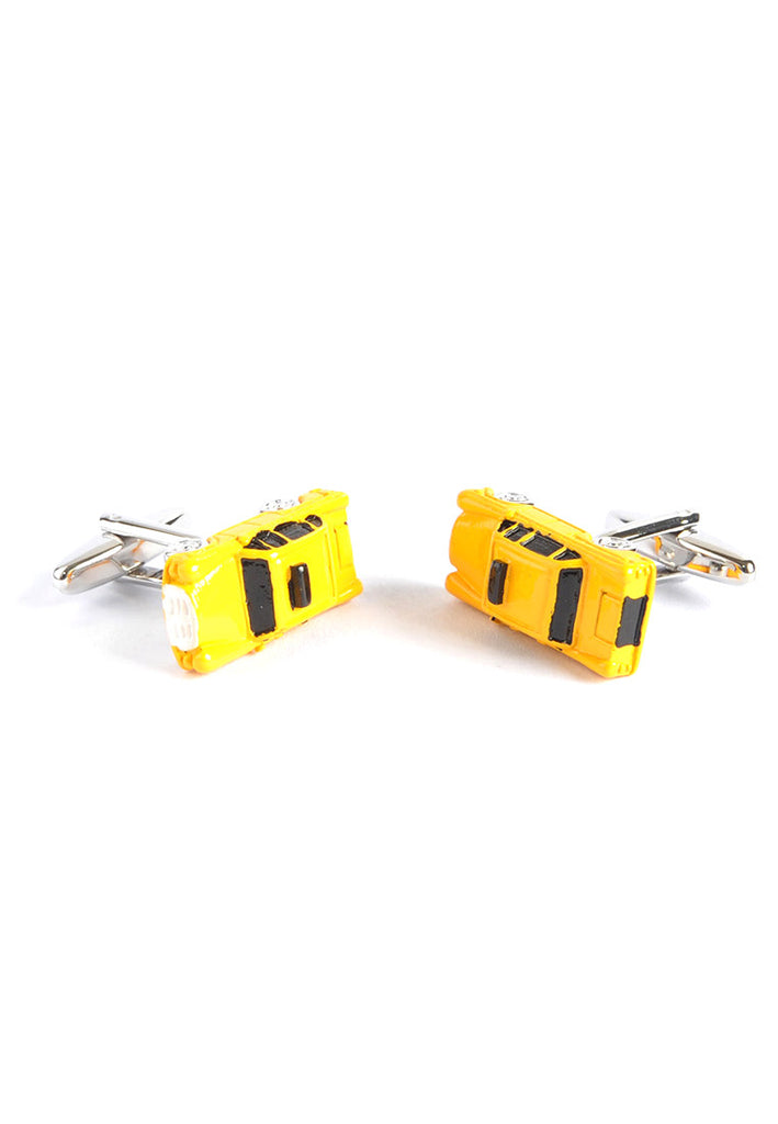 3D Yellow American Taxi Cab Cufflinks