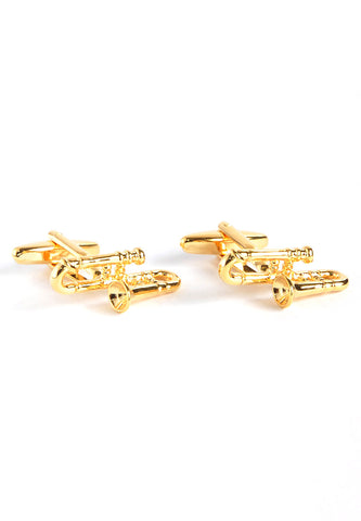 Brass Band Golden Trombones Cufflinks