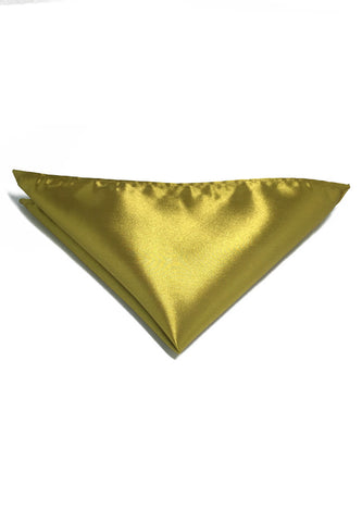Lustrous Series Golden Yellow Polyester Pocket Square