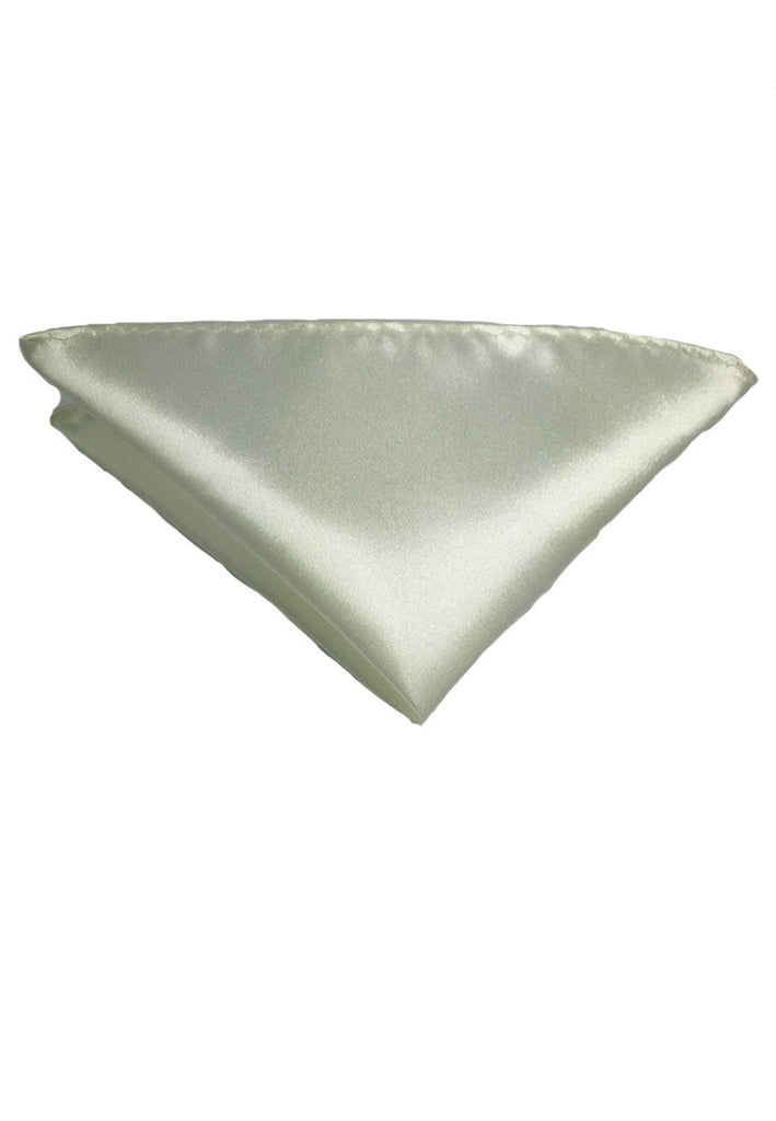 Lustrous Series Pearl White Polyester Pocket Square