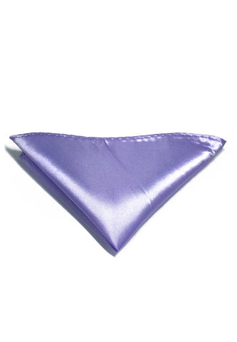 Lustrous Series Violet Polyester Pocket Square