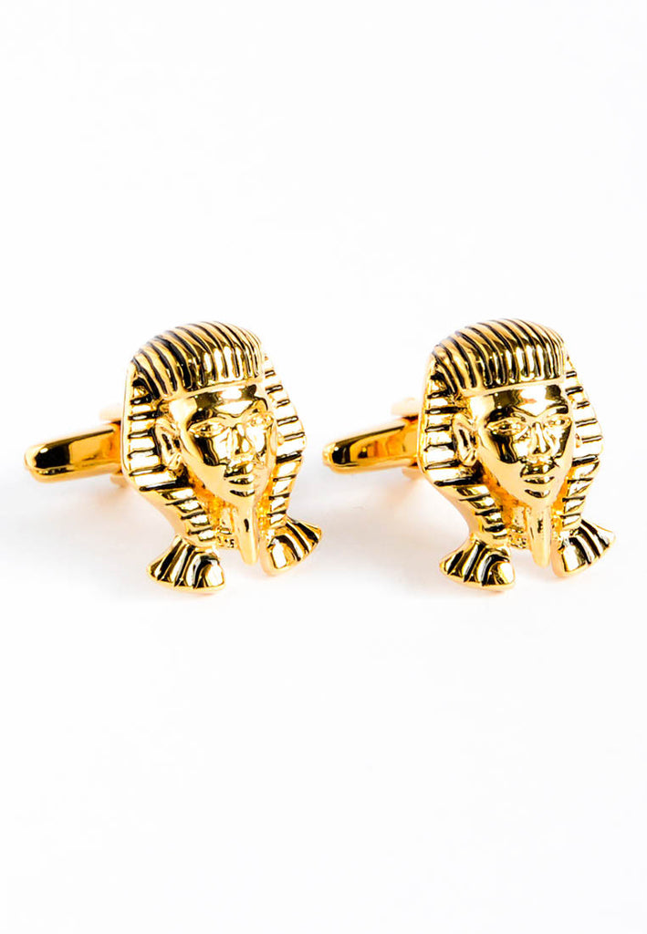 Pharaoh King Tut Mask Cufflinks