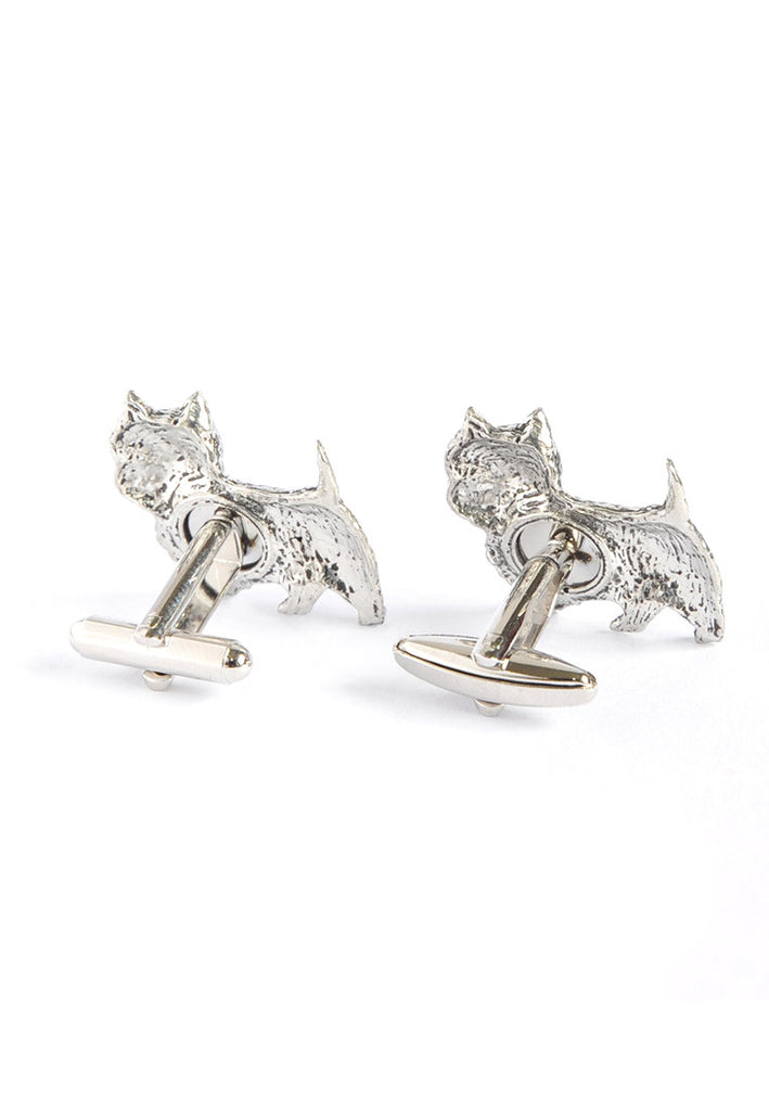 Westie Pewter Dog Cufflinks