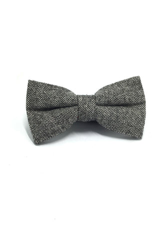 Dolly Series Greyish Black Wool Pre-tied Bow Tie