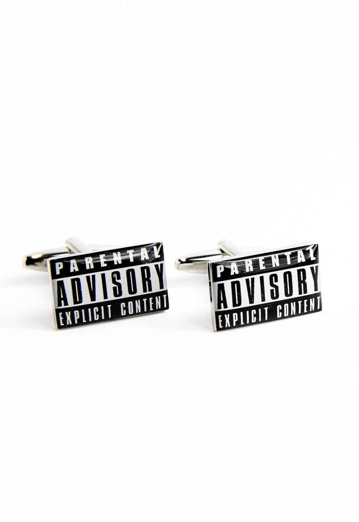 Parental Advisory Explicit Content Cufflinks