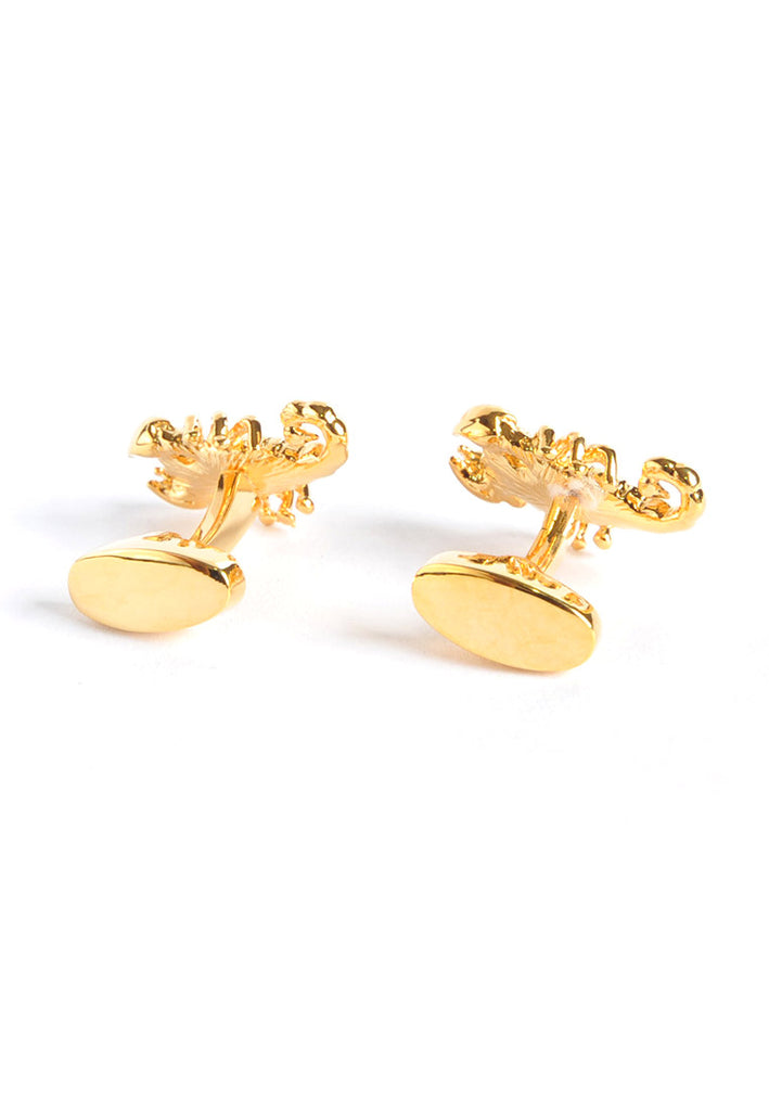 Gold Plated Scorpion Cufflinks