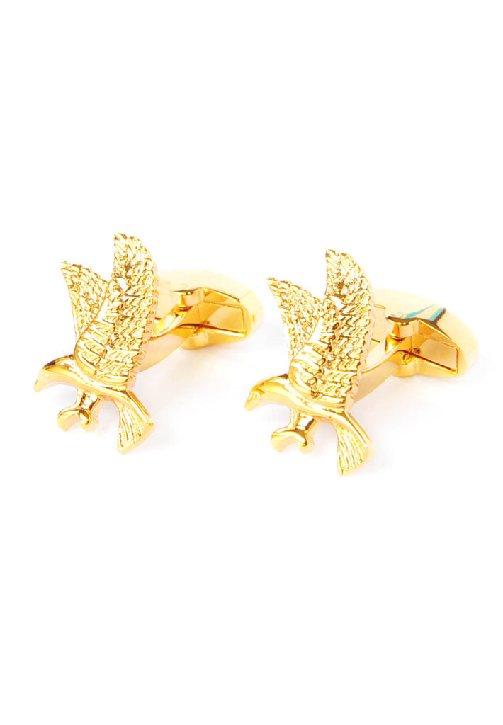Gold Plated Eagle Cufflinks