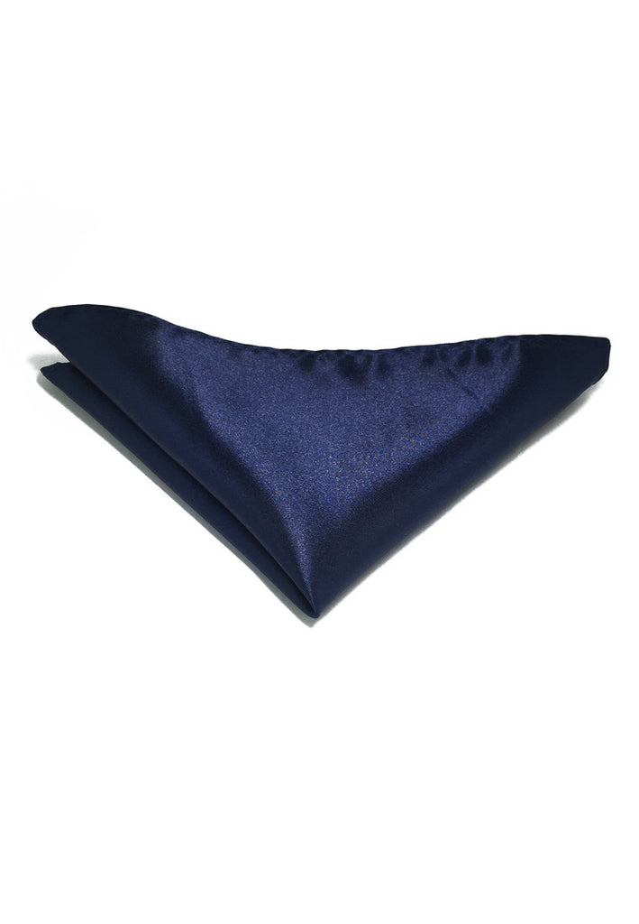 Lustrous Series Dark Blue Polyester Pocket Square