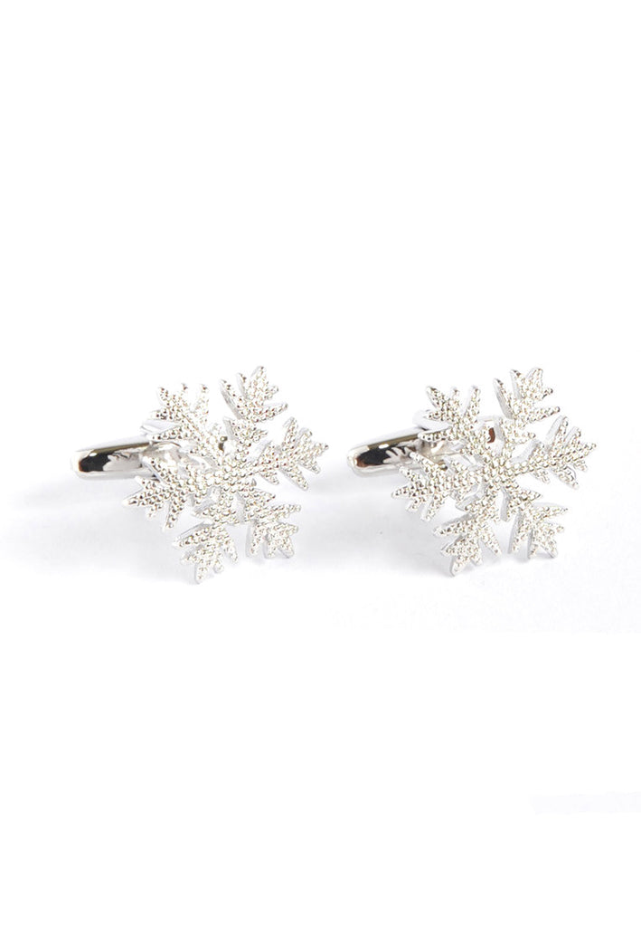 Silver Colored Snowflake Cufflinks