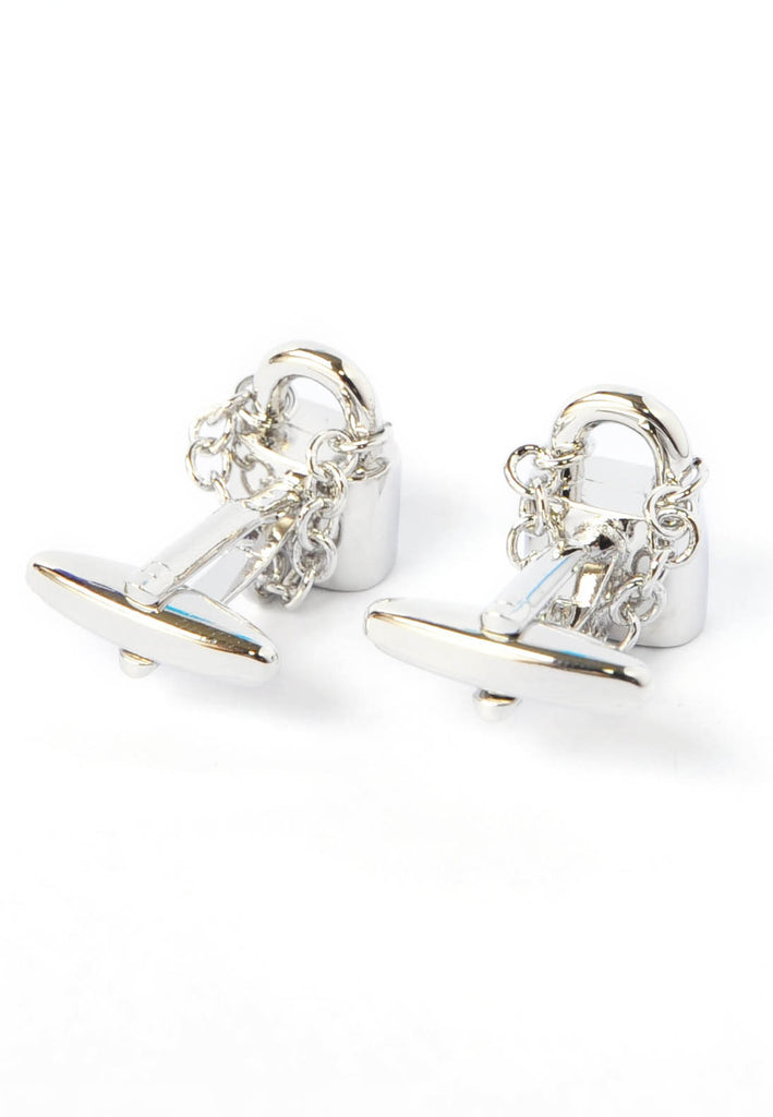 Locked in Love Padlocks Cufflinks