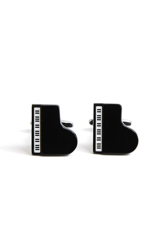 Black Grand Piano Cufflinks