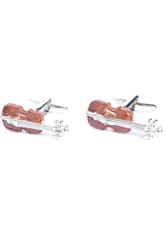 Coloured Violin Cufflinks