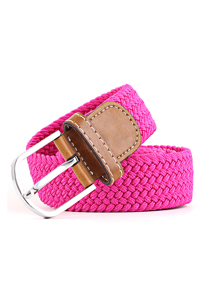 Entwine Series Bright Pink Braided Belts